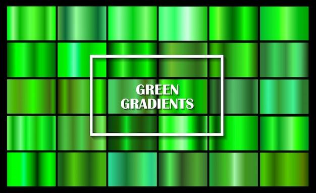 Conjunto de gradientes verdes