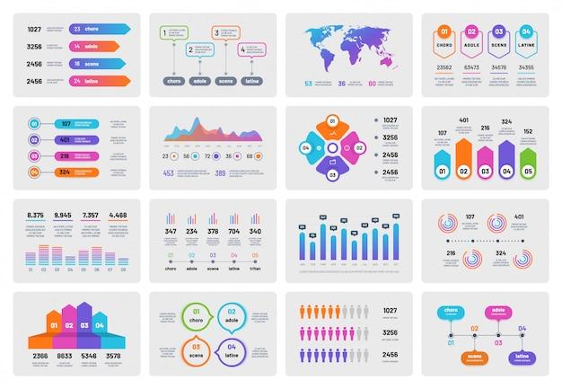 Conjunto de gráficos de apresentação de negócios