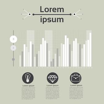 Conjunto de gráficos finanças diagrama infográfico