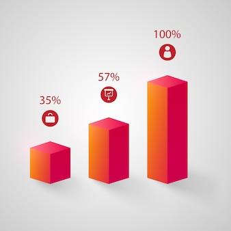 Conjunto de gráficos rosa