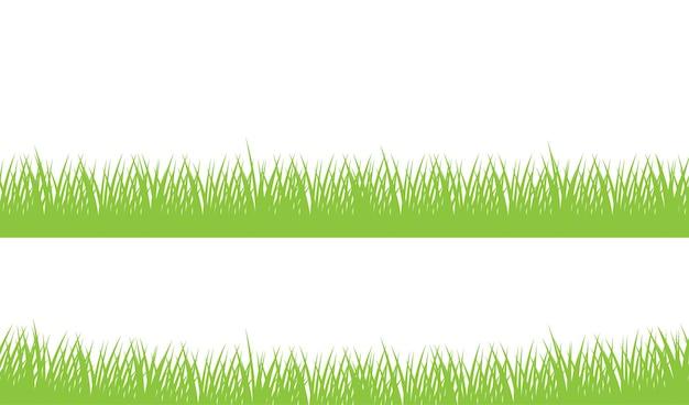 Conjunto de grama verde