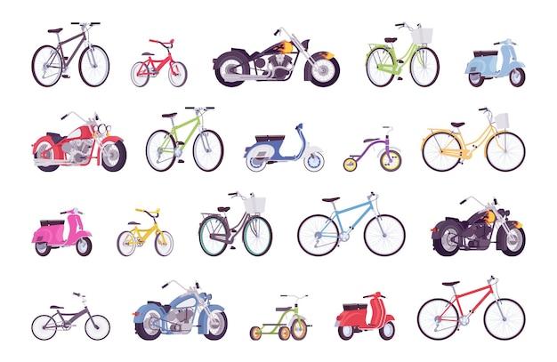 Conjunto de grandes conjuntos de bicicletas