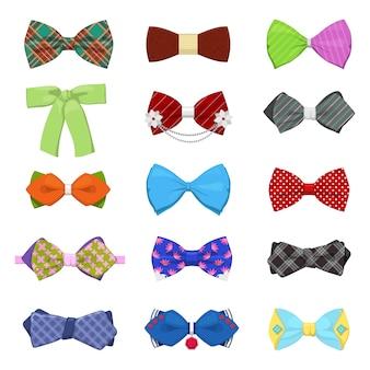 Conjunto de gravatas borboleta para celebração e festa. moda masculina.