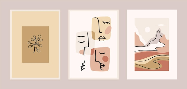 Conjunto de gravuras de arte contemporânea