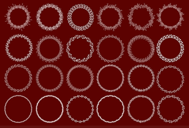 Conjunto de grinaldas decorativas. ilustração do vetor.