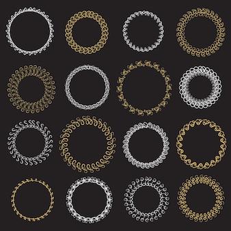 Conjunto de grinaldas gráficas. ilustração do vetor.
