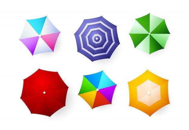 Conjunto de guarda-chuvas de praia