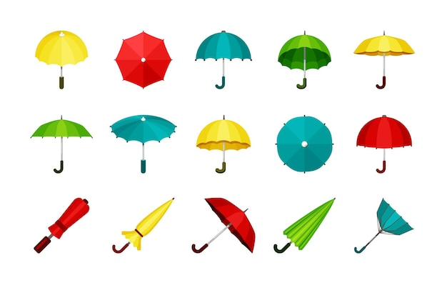Conjunto de guarda-chuvas