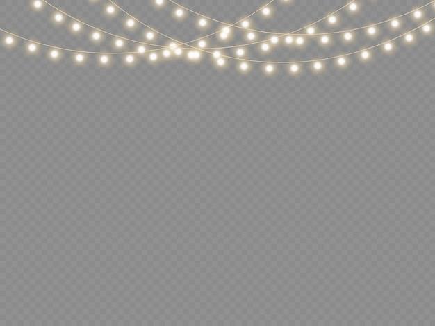 Conjunto de guirlanda brilhante de natal dourado lâmpada de néon luz de festa de ano novo decoração de luzes de natal
