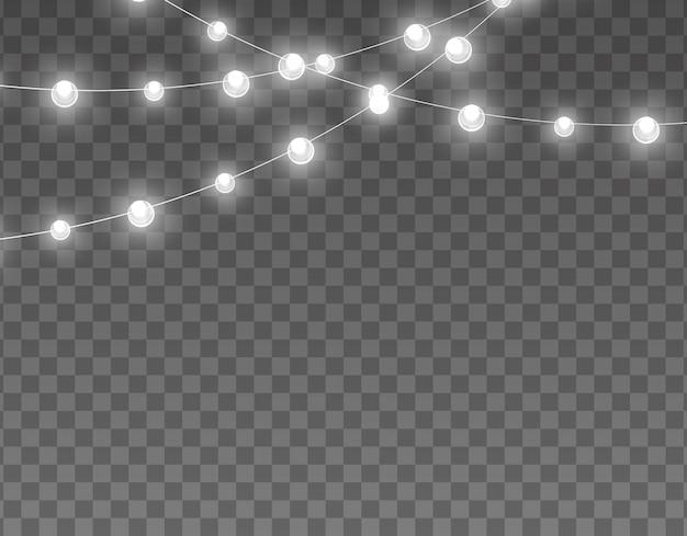 Conjunto de guirlandas de luzes de natal de guirlanda brilhante de natal branco led lâmpada de néon amarela