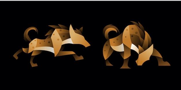 Conjunto de hiena geométrica