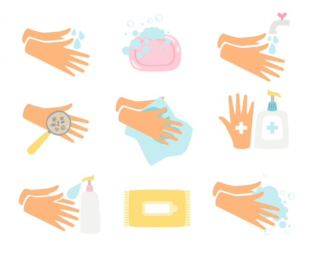 Conjunto de higiene das mãos
