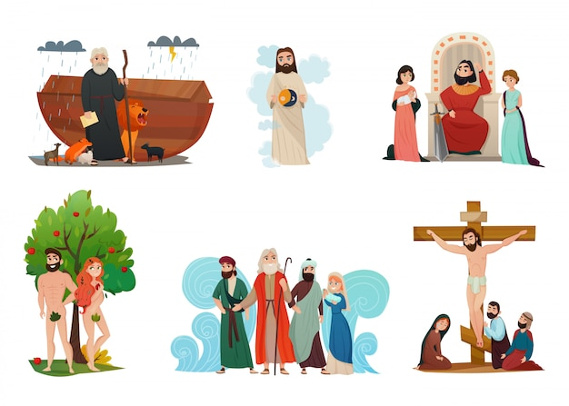 Conjunto de histórias da bíblia