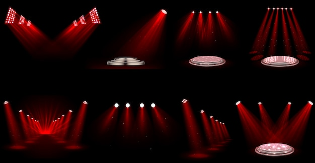 Conjunto de holofotes de efeito de luz