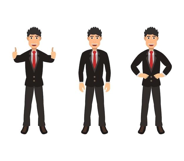 Conjunto de homem de negócios