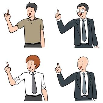 Conjunto de homens de trabalho