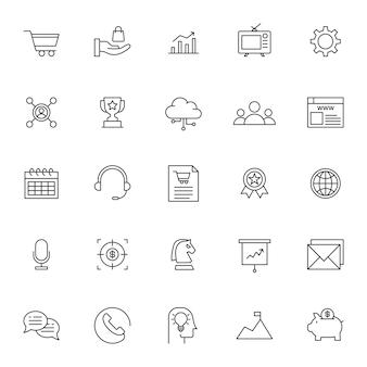 Conjunto de ícone de marketing de negócios