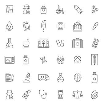 Conjunto de ícone de saúde