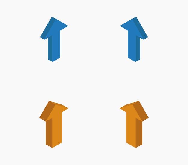 Conjunto de ícone de setas isométricas