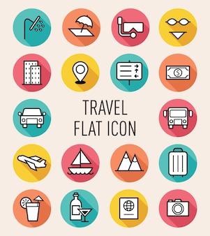 Conjunto de ícone de viagem