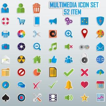 Conjunto de ícones coloridos.