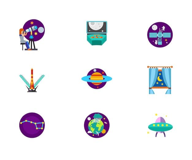 Conjunto de ícones cosmos