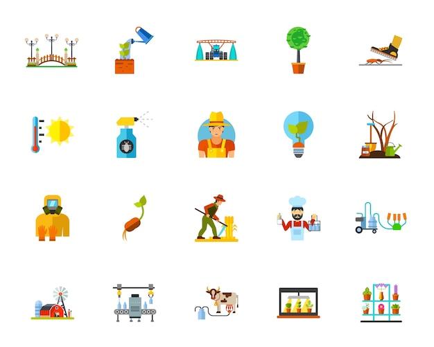Conjunto de ícones da agricultura