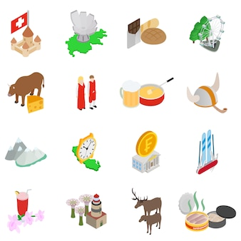 Conjunto de ícones da área do mar báltico