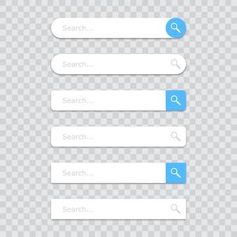 Conjunto de ícones da barra de pesquisa