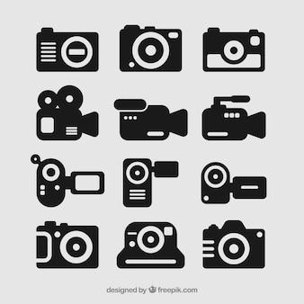 Conjunto de ícones da câmera