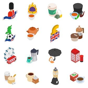 Conjunto de ícones da grã-bretanha