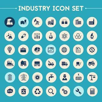 Conjunto de ícones da grande indústria