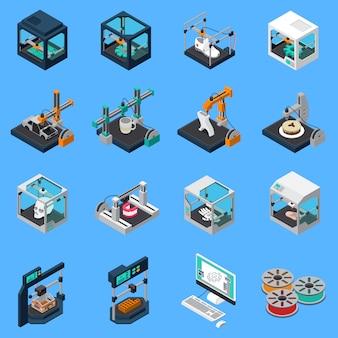 Conjunto de ícones da indústria de impressão