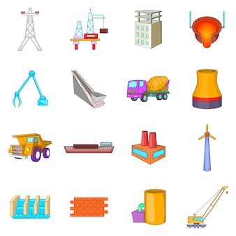 Conjunto de ícones da indústria