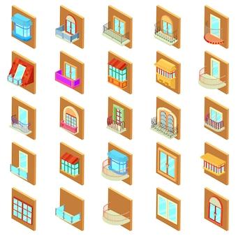 Conjunto de ícones da janela