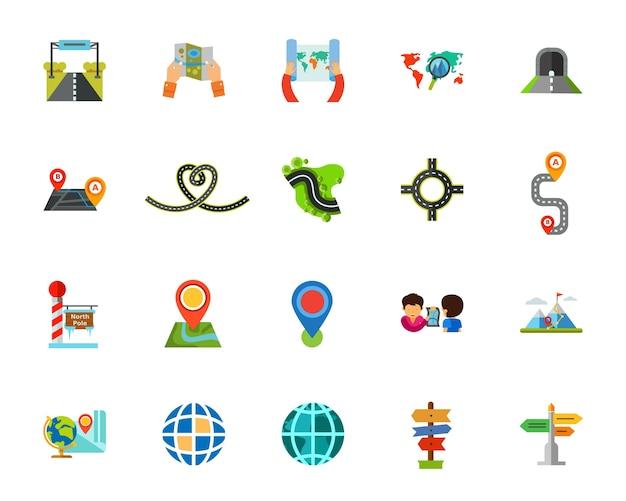 Conjunto de ícones da jornada