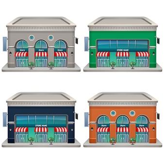 Conjunto de ícones da loja. ilustração. .