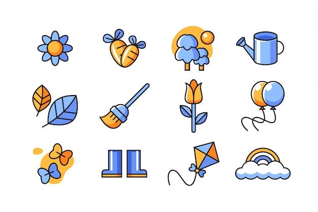 Conjunto de ícones da primavera