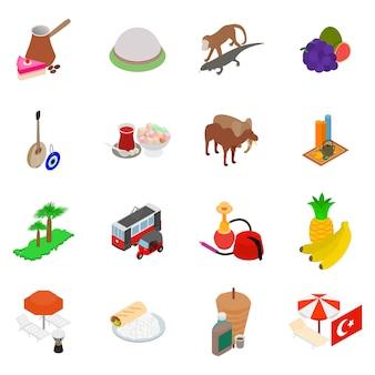 Conjunto de ícones da turquia