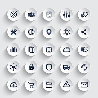 Conjunto de ícones da web, marketing, comércio eletrônico e compras online