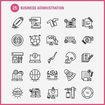 Conjunto de ícones de administração de negócios