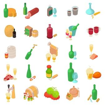 Conjunto de ícones de álcool