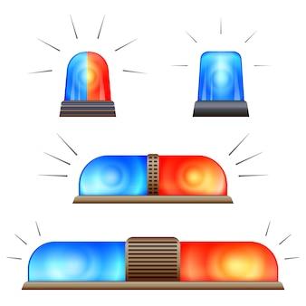 Conjunto de ícones de alerta pisca-pisca