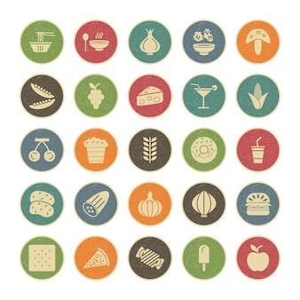 Conjunto de ícones de alimentos para uso pessoal e comercial