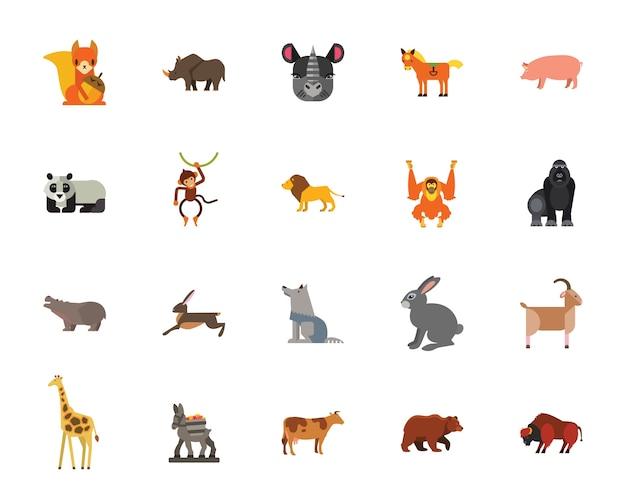 Conjunto de ícones de animais