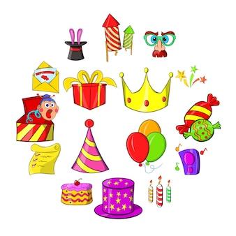 Conjunto de ícones de aniversário