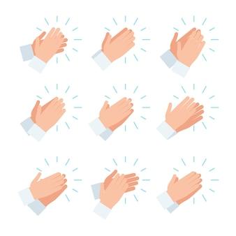 Conjunto de ícones de aplausos