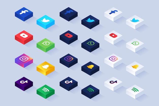 Conjunto de ícones de aplicativos