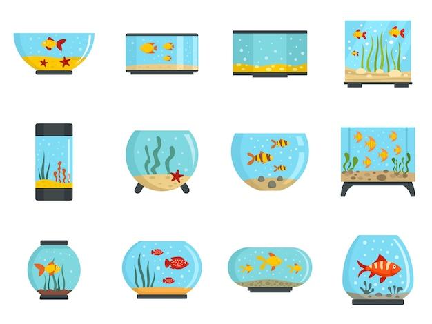 Conjunto de ícones de aquário