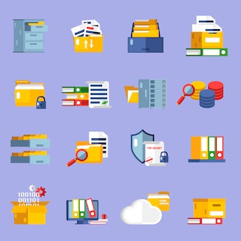 Conjunto de ícones de arquivo